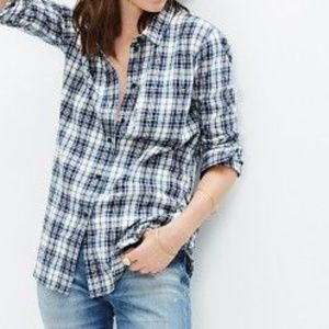 Madewell Slim Boy Shirt in Lawton Plaid XS